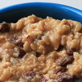 Coconut Banana Ginger Brown Rice Pudding with Raisins Recipe Photo