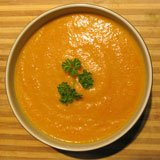 Curry Cream of Carrot Soup Recipe Photo