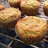Gluten Free, Dairy Free Banana Walnut Coconut Flour Muffins Recipe Photo