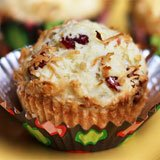 Triple Coconut Cranberry Muffins Recipe Photo
