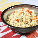 Coconut Tomato Brown Rice Recipe Photo