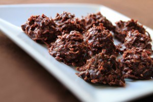 Coconut Chocolate No-bake Macaroons Recipe Photo